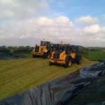 JCB's rolling maize clamp