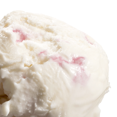 White Choc & Raspberry Fudge Ice Cream